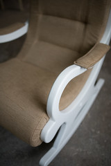 Chair details in home workshop.