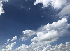 Cloudy replacement sky, Sugar Land, iPhone X