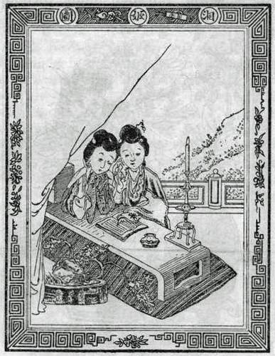 Hotz s'Jacob & Co.: 1900 trade mark registration - two women reading