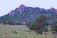 Flinders Ranges SA. Rocky outcrop near the Aborginal art caves at Yourambulla near Hawker. The Flinders were ancestral lands of the Adnyamathanha people..