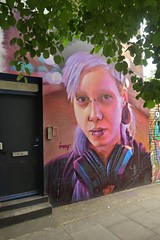Irony.  Street art - Camden Town : London