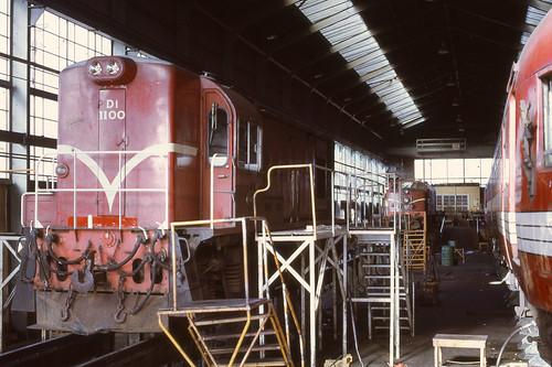 Di 1100, DG 770 and Fiat Railcar at Linwood