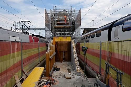 St. Margrethen SBB - Footbridge to Stadler