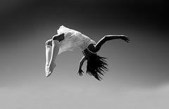 Burning Man in Black and White