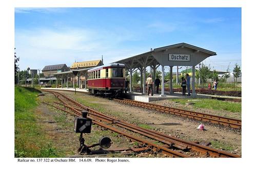 Oschatz. Döllnitzbahn railcar. 14.6.09
