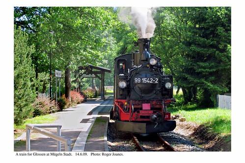 Mügeln Stadt. Train for Glossen. 14.6.09