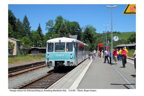 Annaberg-Buchholz Süd. Vintage railcar. 13.6.09