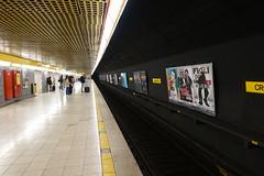 Platform @ Missori subway station @ Milan