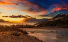 Wyoming Sunset - Riverside