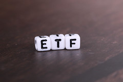 ETF - Exchange Traded Funds text on wooden table