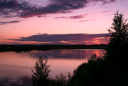 Sunset on the Volga