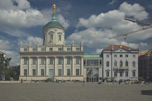 2018-08-10 DE Potsdam, Alter Markt, Am Alten Markt, Altes Rathaus, Potsdam Museum, Café Central