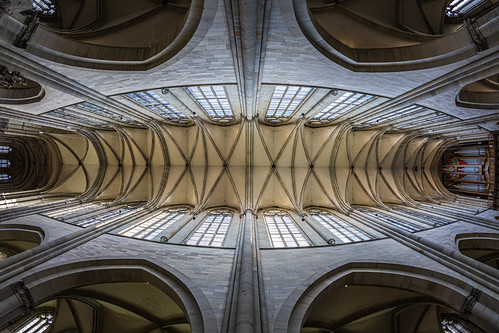 over head in the cathedral