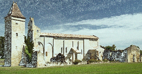 Ruines de l'abbaye de Blasimon.