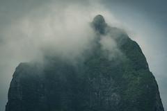 The Mountain on Moorea Island. French Polynesia