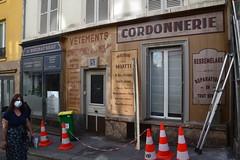 "Tournage du film ""Adieu Haffmann"" à Montmartre"