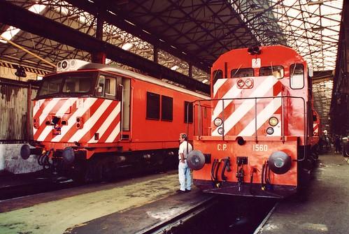 Diesel locomotives CP 1804 & 1560