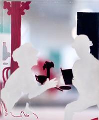 In the Café (1963) - Lourdes Castro (1930)