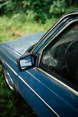 Rearview mirror of Mercedes W123
