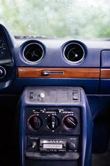 Interior of a classic car.