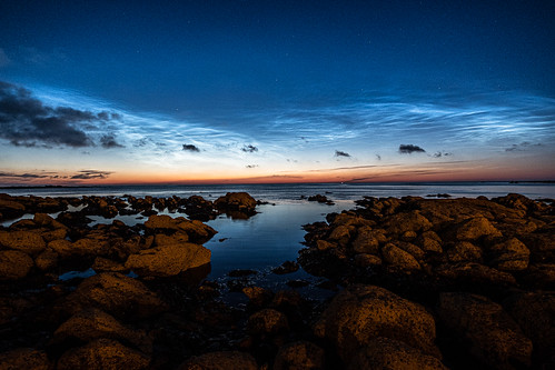 First noctilucent clouds of 2020 for me