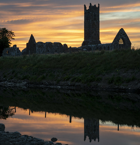 Claregalway Abbey Sunset