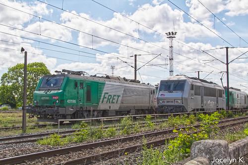 BB (4)27095 et BB 26133 en stationnement à Hausbergen