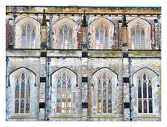 The Gothic windows