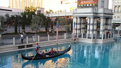 Nevada - Las Vegas: The VENETIAN -  outside Gondola rides are the top attraction of the imitated Italian metropolis of world history