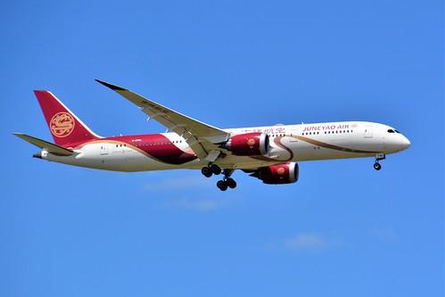 "(CDG)June Yao Air Boeing 787-9 Dreamliner B-208A""Chinese Silk Ribbon sticker""Landing runway 09 R"