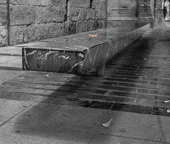 Bench With Yellow Leaf