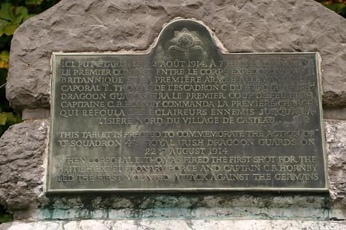 Memorial to the 4th Royal Irish Dragoon Guards Mons Belgium