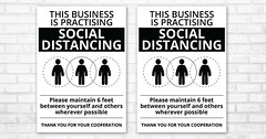 """Printable """"This business Is Practising Social Distancing"""" - Social Distance Poster"""