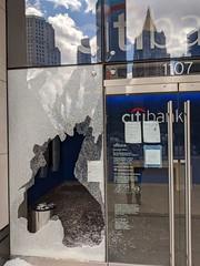 Broken Citibank Window