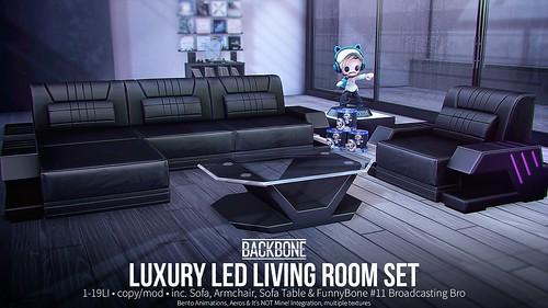 BackBone Luxury Led Living Room Set