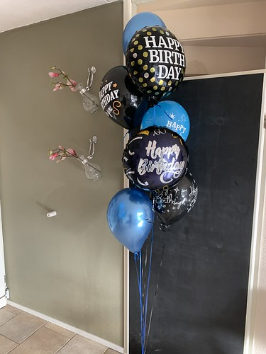 Ballonboeket Verjaardag Zwart Blauw