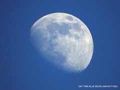 Daytime Waxing moon. (In Explore)