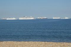2 Cunard, 3 P&O & 1 Grey Funnel Line