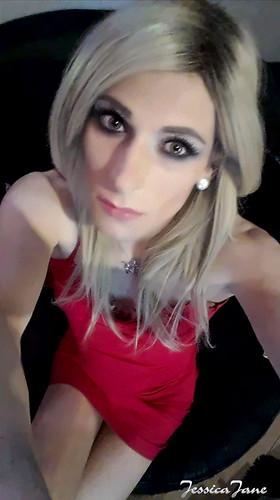 Red Dress Selfie
