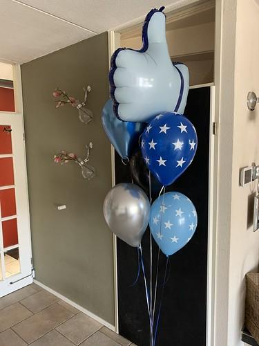 Ballonboeket Trots op Jou Blauw Zilver