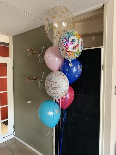 Ballonboeket Verjaardag 20 Jaar