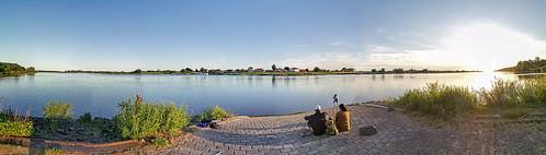 Schnakenbek Elbe Panorama