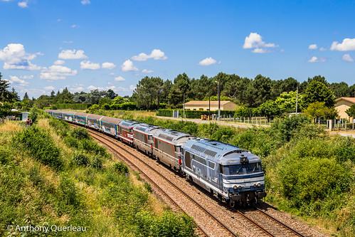 02 juin 2020 BB 67596-67557-67566-67611 Train 466762 Bordeaux-Hourcade -> Périgueux Coutras (33)
