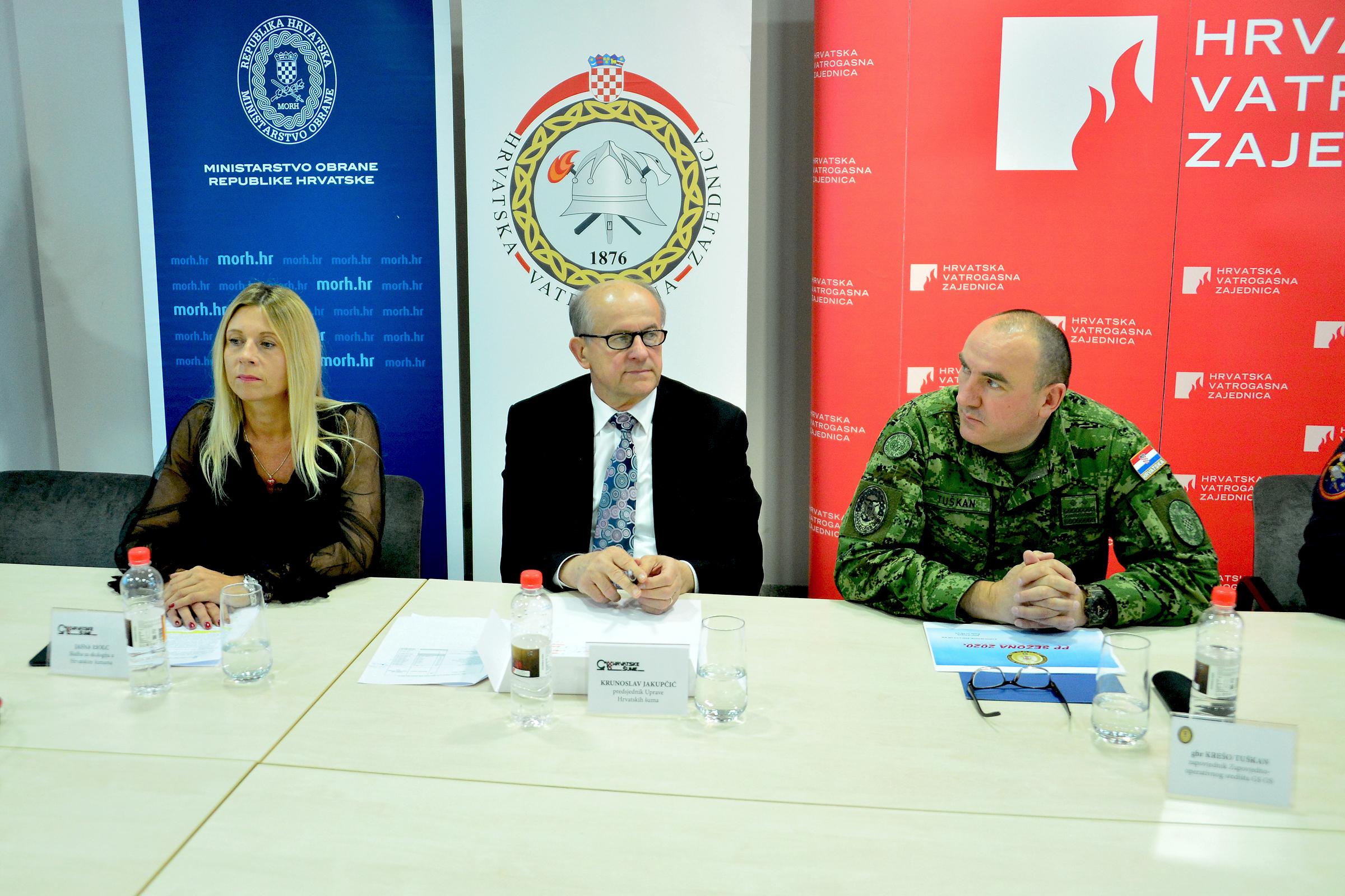 Održana konferencija za medije o spremnosti protupožarnih snaga za protupožarnu sezonu 2020.