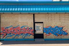 George Floyd street art on Chicago Ave in Minneapolis, Minnesota