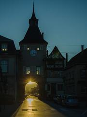 Éclipse sur la tour de l'Hotel-de-Ville