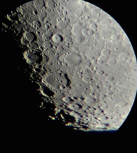 Moon May 31st 2020, sunrising over Clavius