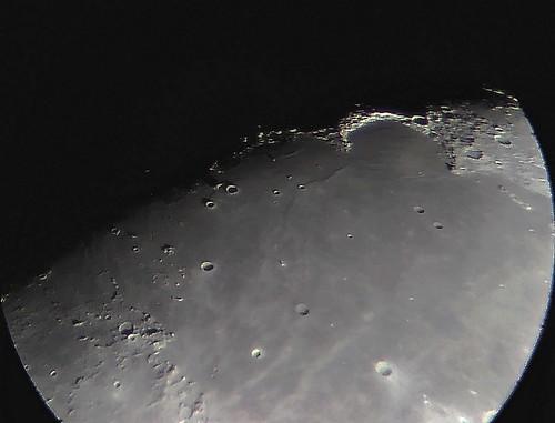 Moon Jun 1st 2020, sunrising over Sinus Iridum