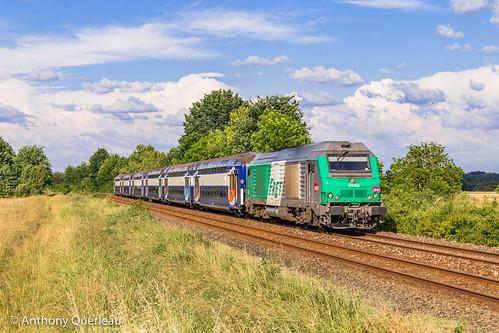 03 juin 2020 BB 75456 Train 434683 Périgueux -> Bordeaux-Hourcade Douzillac (24)