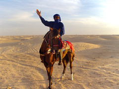 Tunisia, Douz - Nomadic horseman - May 2010